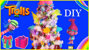 TROLLS MOVIE DIY Christmas Tree With Surprise Toys Make Trolls XMAS Kids Craft