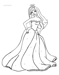 Barbie Princess Coloring Pages For Girls