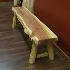 Red Cedar Log Bench More