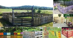 Fence Made From Pallets Pallet Dog Wood Ideas Home Design Panels