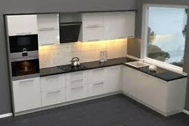 küche hochglanz weiß ohne geräte 340 x 220 cm ebay