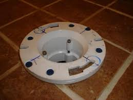 toilet flange tiled surface to fasten or not ceramic