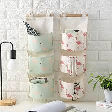 baumwoll leinen tasche halter für taschen schlafzimmer