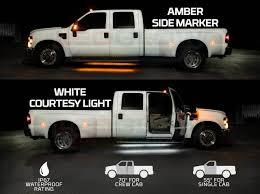 100 Lights For Trucks 2pc Amber Truck Running Board LED Light Kit With Courtesy