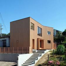 100 Modern Wooden House Design Cream Nuance Simple With Small Windows And Door Can Add