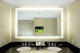 bathroom backlit wall mirrors for residence vanity mirror