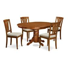 5 Piece Oval Dining Room Sets by 5 Piece Oval Dinette Table With Leaf And 4 Dining Chairs Free