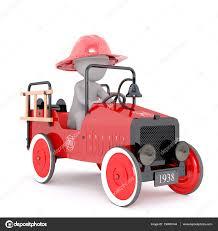 100 Antique Fire Truck Cartoon Fighter Driving Stock Photo 3D