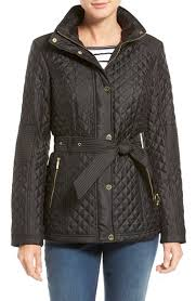 Lyst Michael michael kors Belted Quilted Jacket in Brown