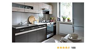 küche 240cm fiwodo erweiterbar günstig schnell einbauküche junona line set 240 4 fronten wählbar wenge sonoma