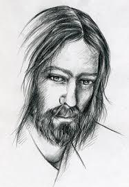 Simple Christian Jesus Face Tattoo Design