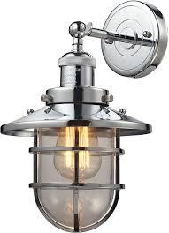 elk 66346 1 seaport nautical polished chrome sconce lighting elk