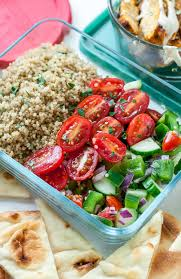 Loving This Recipe For Healthy Chicken Shawarma Quinoa Bowls With A Super Easy Hack Creating