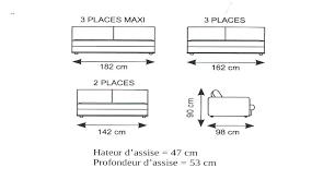 taille canapé 3 places dimension canape lit dimensions sans les accoudoirs canapac
