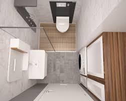doppelfunktion wc in der dusche integriert waschmaschine