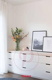 unser schlafzimmer mit ikea nordli hack und massivholzplatte