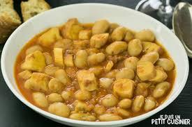 recette de mijoté de haricots blancs au poulpe cassoulet de poulpe