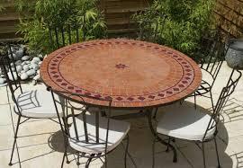 table ronde mosaique fer forge table jardin mosaique ronde 150cm terre cuite losange et 1 étoile