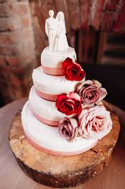 Roses On A Naked Cake