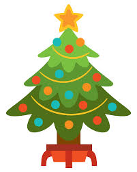 Pastel Christmas Tree Clipart
