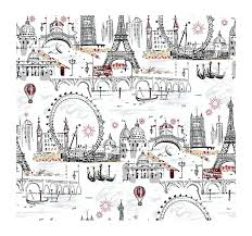 Paris Themed Bathroom Accessories by Amazon Com York Wallcoverings Tres Chic Bl0436 Euro Scenic