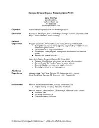 chronological resume template resume exle