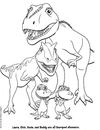 Download Coloring Pages Dinosaur Train Printable Eassume
