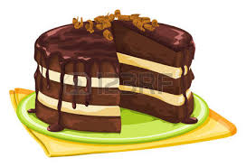 Vector illustration of chocolate cake with missing slice Illustration