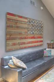 Amazing Rustic American Flag Wall Art