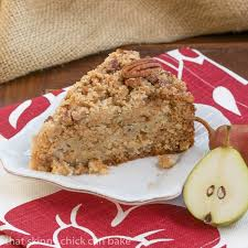 Pear Streusel Coffee Cake That Skinny Chick Can Bake