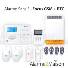 alarme maison sans fil focus gsm rtc 5 à 6 pièces comparer les