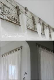 Reclaimed Wood Curtain Rod