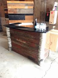 Bar Built From Reclaimed Cedar Decking And Birch Logs - Old Grain ... Reclaimed Wood Bar Made From Old Barn Bars Pinterest The Barn Wood Bar Rack Farmhome Decor 2 Restaurant Stools With Backs Made Hand Crafted Barnwood By Morast Originals Custmadecom From Pine Siding With Live Edge Top 500lb Slab Of Concrete Http Cabinet Magnificent Storage Cabinets Affordable Foobars Designs Llc Tin Oakash Outdoor Table Porter