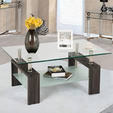 100 Living Room Table Modern Amazoncom Tangkula Glass Coffee Simple Style