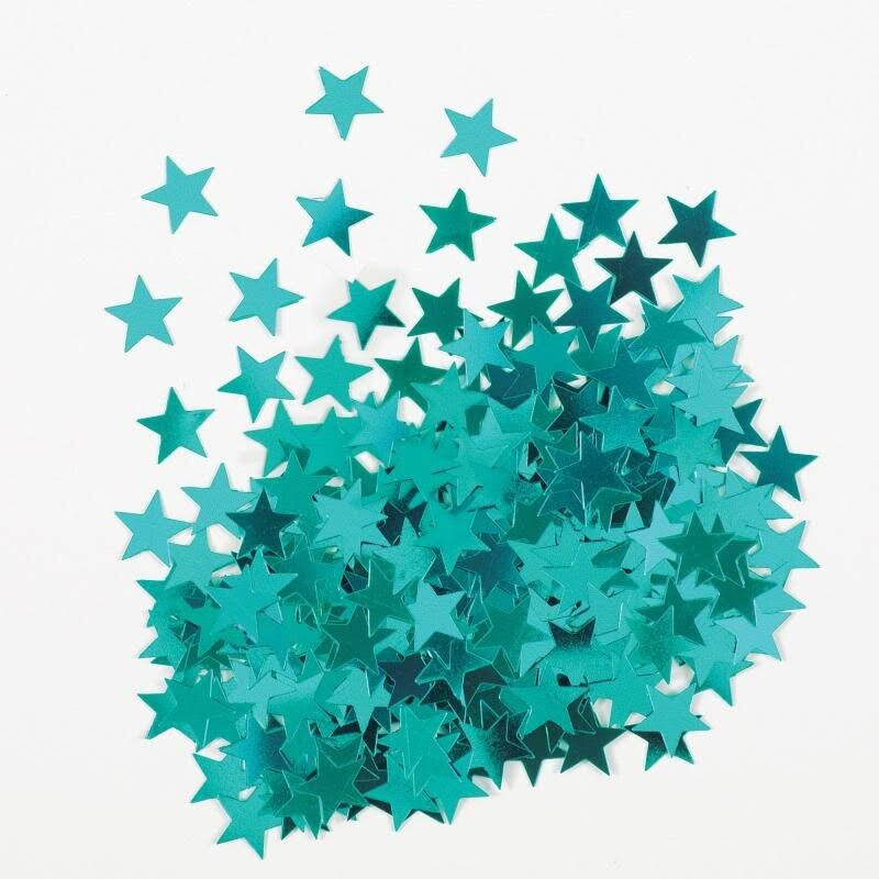 Unique Metallic Star Confetti - Teal