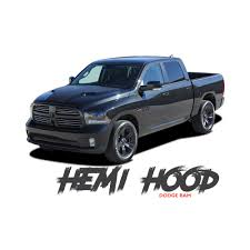 Dodge Ram HEMI HOOD Split Hood Center Accent Vinyl Graphics Decal ...