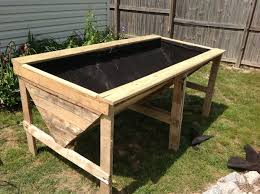 Raised Planter Bed From Pallets 8 Steps With Pictures