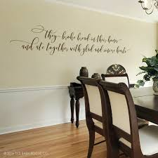 Bible Verse Decal They Broke Bread In Their Homes Christian Quote