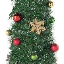 6ft Christmas Tree With Decorations by Pop Up Holly And Ivy Green Christmas Tree 6ft Christmas Trees