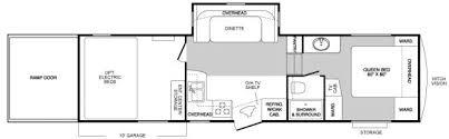 Raptor 5th Wheel Toy Hauler Floor Plans by Used 2007 Keystone Rv Raptor 299mp Toy Hauler Fifth Wheel At