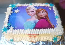 Frozen Elsa & Anna Birthday Cake