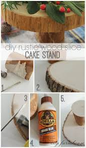 Rustic Wedding Cake Stand From Once Wed Diy Pictures
