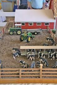 toy stockyard stable corral with stalls corrals gates and ramp