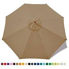 patio umbrella replacement canopy 9ft market umbrella replacement canopy 8 ribs taupe