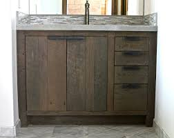 Cabidor Classic Storage Cabinet With Mirror by Bathrooms Design Distressed Wood Bathroom Vanity Reclaimed
