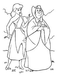 Cinderella Printable Coloring Book Pages For Kids