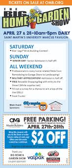 Home & Garden Show | Olympia Master Builders Advance Auto Parts Coupons 25 Off Online At Hpswwwpassrttosavingsm2019coupon Auto Parts 20 Coupon Code Simply Be 2018 How To Set Up Discount Codes For An Event Eventbrite Help Paytm Movies Offers Sep 2019 Flat 50 Cashback 35 Off Max Minimum Discount Code Percent Coupon Promo Advance Levi In Store 125 Isolation Tank Sale Best Deals On Travel Codes By Paya Few Issuu Rules Woocommerce Wordpress Plugin