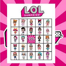 FREE LOL Surprise Bingo Birthday Party Printables Banner