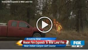 Home plete loss in house fire threatening area wild land More