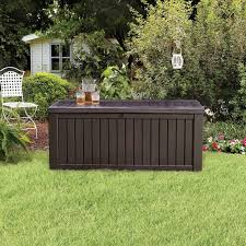 Suncast 195 Gallon Deck Box Manual by Suncast Resin 99 Gallon Deck Box Mocha Brown Dbw9200 Hayneedle